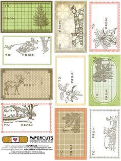 PAPERCUTS Printable Gift Tags