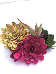 felt succulent plants by miasole on Etsy