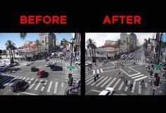 Hollywood and Highland used to be one of the city's most dangerous intersections for pedestrians and cars alike.