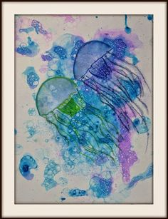 LOVE LOVE LOVE from MaryMaking: Bubble Prints with  Chalk pastel Jellyfish
