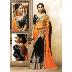 Glistering Georgette Embroidered Festive Wear & Party Wear Saree at just Rs.1040/- on www.vendorvilla.com. Cash on Delivery, Easy Returns, Lowest Price.