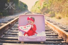 Kelly Kristine Photography | 6 month baby girl Valentine Photoshoot #kkristinephotography #kellykristine
