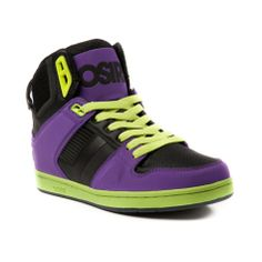 4423cb8530 Shop for Mens Osiris LTE Skate Shoe in Black Purple Lime at Journeys Shoes.  Shop