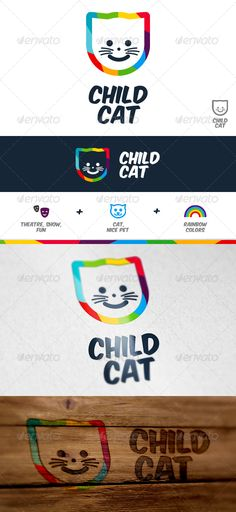 Creative, colorful logo. Ideal for kindergarten or theatre/cinema for children. 2 versions ¨C vertical and horizontal.Easy to edit