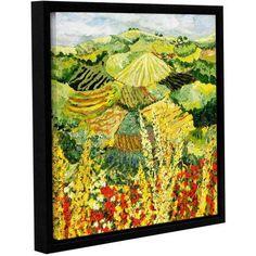 ArtWall Allan Friedlander Golden Hedge Gallery-wrapped Floater-framed Canvas, Size: 24 x 24, Red