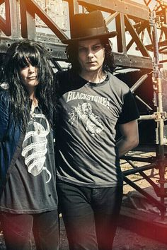 Jack White and Allison Mosshart