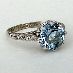 Antique blue sapphire