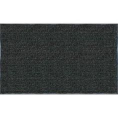 Apache Mills Enviroback Charcoal 60 in. x 36 in. Recycled Rubber/Thermoplastic Rib Door Mat  on  Daily Rug Deals