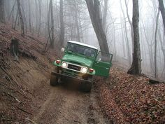 green Toyota Land Cruiser