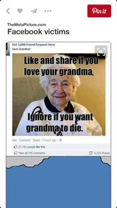 Love my grandma I think these posts aren't nice tho
