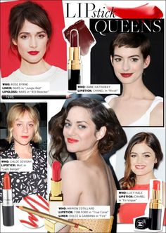 Love the colour of Rose Byrne's lips.  Great blue red.