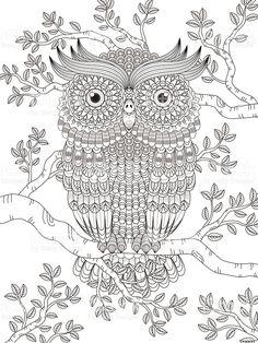 Coloring Pages To Print, Coloring Book Pages, Mandala Anti Stress, Owl Art, Cards For Friends, Mandala Coloring, Mandala Art, Sketches, Drawings