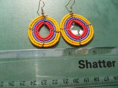 Hand Made African Masai Beads Earrings 14155 by nariv on Etsy