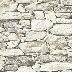 Grey New York Fieldstone Wallpaper Pattern#CT40808