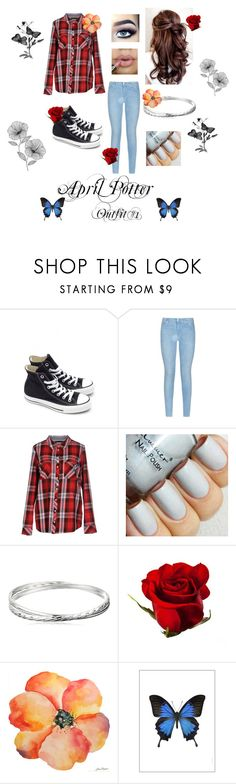 """""""Outfit"""" by alex-loves-butterbeer ❤ liked on Polyvore featuring beauty, Converse, 7 For All Mankind, ONLY, ColoredPrints, Liljebergs and WallPops"""