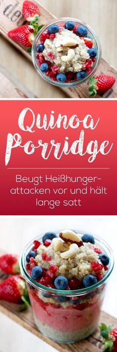 Quick recipe of quinoa porridge. Vegan, tasty and healthy. With just under 105 calories per 100 grams of cooked quinoa, … Vegan Breakfast Recipes, Brunch Recipes, Healthy Recipes, Quick Recipes, Quinoa Porridge, Breakfast Porridge, Oatmeal Porridge, Quinoa Pudding, Porridge Recipes