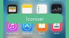 Da estilo a los íconos del panel frontal de iOS con Iconizer (con jailbreak)