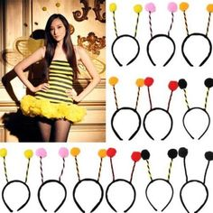 Ladies girls boy #alien bug bee insect #antennae headband #headdress costume part,  View more on the LINK: 	http://www.zeppy.io/product/gb/2/291353945132/