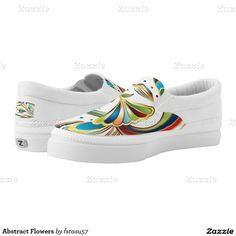 Abstract Flowers Printed Shoes