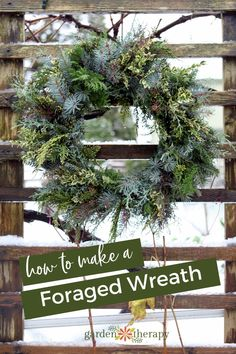How to Make a Perfect Fresh Wreath Experience Nature: Make a Fresh Foraged Wreath. Wreaths made from fresh foraged materials are a wonderful way to make an entrance look welcoming or to. Decoration Christmas, Christmas Wreaths To Make, Noel Christmas, How To Make Wreaths, Holiday Wreaths, Xmas Decorations, Christmas Crafts, Holiday Decor, Christmas Ideas