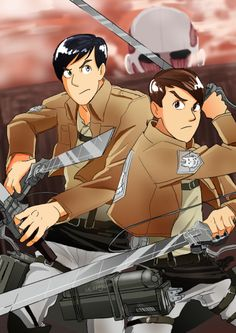 Dan and Phil if they were in Attack on Titan.