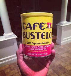 That's #fridayfeeling...aka tired!! A little #cafebustelo espresso kick! I