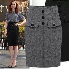woolen new arrival solid color high waist woolen skirt slim bust slim hip step skirt