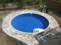Semi Inground Pool Basic Package for 15 ft Round Eternity. Everything you need to start building your own semi inground pool. Available at Pool Supplies Canada Cheap Inground Pool, Inground Pool Covers, Semi Inground Pools, Cheap Pool, Inground Pool Ladder, Backyard Pool Landscaping, Small Backyard Pools, Small Pools, Landscaping Ideas