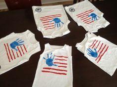 Handprint flag- cute and simple. July 4th idea