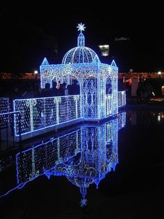 I have always wanted to go to Japan. Apparently this is there and it is too beautiful not to share. Christmas In The City, Blue Christmas, Beautiful Christmas, All Things Christmas, Christmas Holidays, Outdoor Christmas, Christmas Light Installation, Christmas Light Displays, Christmas Tree Decorations