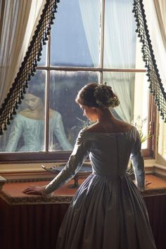 Jenna Coleman as the young Victoria in ITV's 2016 costume drama.