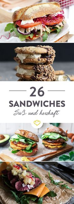 Sandwiches - 26 ideas for a small snack in between- Sandwiches – 26 Ideen für den kleinen Hunger zwischendurch Get ready for a big sandwich movie theater! With juicy layers of vegetables, sauces or meats, these 26 ideas make the cheesecake look pale. Toast Sandwich, Big Sandwich, Food To Go, Food And Drink, Homemade Burgers, Snacks Saludables, Le Diner, Wrap Sandwiches, Sandwich Recipes