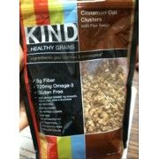 KIND Healthy Grains Granola, Cinnamon Oat Clusters with Flax Seeds | 20 mg sodium and 6g sugar per serving