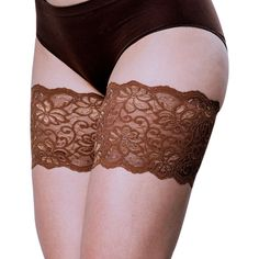 """Bandelettes DOLCE CHOCOLATE Elastic Anti-Chafing Thigh Bands, 5.5"""" in length"""