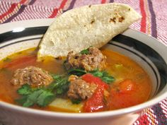 Food for Hunters: Venison Albondigas Soup (Mexican Meatball Soup) (GLUTEN FREE NOTE: Ensure there is no hidden gluten in the ingredients that you use. Venison Recipes, Meat Recipes, Mexican Food Recipes, Chicken Recipes, Healthy Recipes, Ethnic Recipes, Game Recipes, Venison Meals, Clean Eating Meals