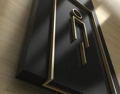 Detail view of an amenity sign  in painted acrylic and brushed brass. Toilet Signage, Door Signage, Wayfinding Signs, Exterior Signage, Signage Display, Wc Sign, Logo Sign, Environmental Graphic Design, Environmental Graphics