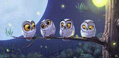 Owls by Biboun - Fossard Christophe, via Behance
