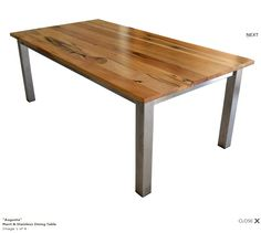 'Augusta' marri and sless steel dining table - Jarrimber furniture