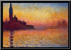 San Giorgio Maggiore at Dusk Claude Monet art for sale at Toperfect gallery. Buy the San Giorgio Maggiore at Dusk Claude Monet oil painting in Factory Price. Claude Monet, Pierre Auguste Renoir, Monet Paintings, Landscape Paintings, Landscape Posters, Artwork Paintings, Painting Wallpaper, Landscape Pictures, Promenade En Bateau