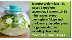 Don't like to drink water? Prepare this delicious detox water!   Help us to spread the word and don't forget to like our page! https://www.facebook.com/WeightLossWorldUK