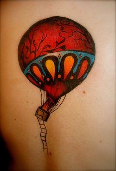 Color Air Balloon Tattoo