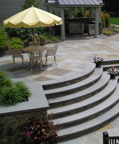 Curved Outdoor Stairs by Joanne Kostecky Garden Design, Inc. by Landscape Design Advisor, via Flickr