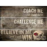 Found it at Wayfair - NFL Coach Me Plank Graphic Art Plaque
