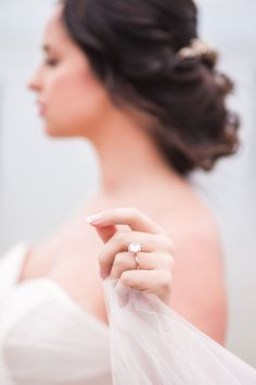 Ethereal Bridal Photo Showing Off Her Vintage Engagement Ring - Modern Wedding Rings Vintage, Vintage Engagement Rings, Engagement Photos, Engagement Ideas, Vintage Rings, Destination Wedding Cost, Seaside Wedding, Wedding Poses, Wedding Shoot
