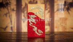 Red embossed bronzing traditional Chinese gold dragon&phoenix wedding invitation cards with envelopes 50sets free shipping-in Festive & Party Supplies from Home, Kitchen & Garden on Aliexpress.com | Alibaba Group