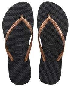 ab31fb8e0dfc88 Havaianas Slim Cool Flip Flops - Black copper Flip Flop Brands