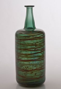Arne Jon Jutrem for Hadeland Norway, Glass Art, Vase, Bottle, Design, Decor, Decoration, Flask