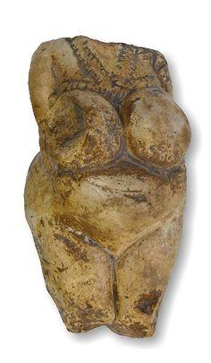 Venus from Kostenki. Ancient goddess figurine from Kostenki, Voronezh region, Russia. Own cast.