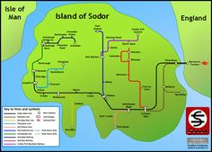 Sodor (fictional island) - Wikipedia, the free encyclopedia...inspired by isle of Man..