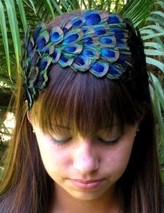 peacock feather headband. tastefully done!